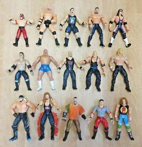 Bundle of 15 x WWE WWF WCW WRESTLING FIGURES - Jakks - Titan (Lot 4)
