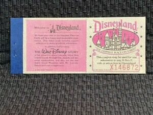 1970's Vintage Disneyland Guest Ticket Book (5 Tickets) ~ Unused