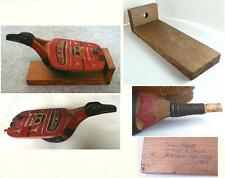 Superb Nuu-chah-nulth Carved Raven Rattle by Preeminent Carver Tim Paul 1984