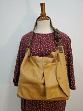 LUCKY BRAND Vintage Glove Soft Raw Leather Bag Hobo Purse w/Pouch Bag