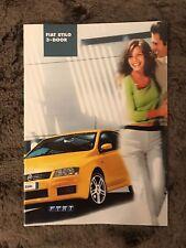 Fiat Stilo sales brochure 2002