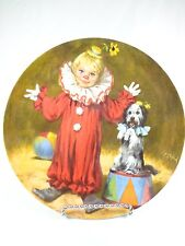 Vintage Porcelain Reco Plate Tommy the Clown W His dog John Mc Clelland Circus