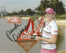 LPGA Paula Creamer Autographed Signed 8x10 Photo COA N