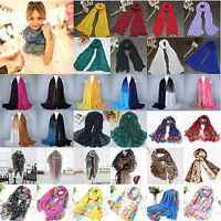 Womens Ladies Long Fashion Chiffon Voile Shawl Scarf Scarves Warp Stole Pashmina