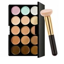15 Colors Contour Face Cream Makeup Concealer Palette with Powder Brush