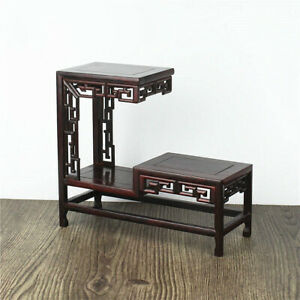 Unique Red Acerbic Wood Rosewood Antique teapot Jewelry Ornaments Shelf Cupboard