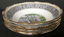 Set Of 4 Vintage Royal Albert Silver Birch Nappies Dessert Bowls