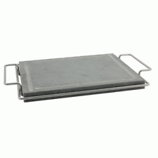 Grill 30x30 cm in Natural Stone Soapstone Lava Rock with Handles & Feet Sos