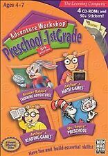 ADVENTURE WORKSHOP 5: PRESCHOOL-1ST GRADE (2004) PC CD-ROM (NO BOX) NEW & SEALED