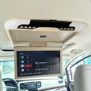 13inch Car Roof Monitor LCD TFT Overhead Flip Down Car Ceiling Screen Beige