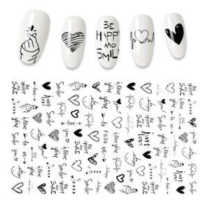 Sticker Cool English Letter  Foil Love Heart Accessories Fashion Manicure