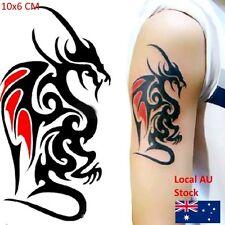 Mini Waterproof Temporary Tattoo Sticker of body 10.5*6cm Cool Man Dragon Tattoo