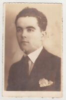 Affectionate Stylish Handsome Young Man Cute Face Tie Gay Int Photo 1930s