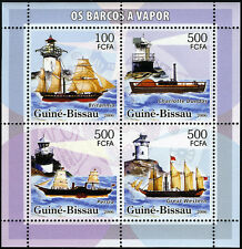 Guinea-Bissau, Souv. Foglio, Mnh. Steamboats e Fari, 2006 (S2)