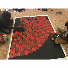 """ABORIGINAL ART PAINTING by THOMAS and WALALA TJAPALTJARRI """"TINGARI CYCLE"""", WIP"""