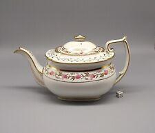 More details for antique 19thc london shape porcelain teapot pattern 2/44 circa 1820
