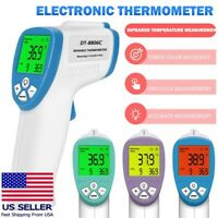 Non-Contact Thermometer Digital LCD Infrared Forehead Baby Adult Temperature Gun