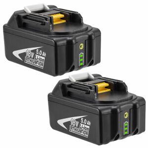 2x For Makita 18V 5.0AH Battery BL1860 BL1850 BL1840 BL1830 BL1815 Led Indicator