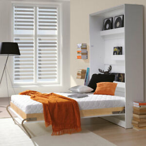 Vertical Small Double Wall Bed Murphy Bed Hidden Bed