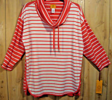 RUBY RD Must Haves 2017 Lightweight Stretch 3/4 Sleeve Cowlneck Pullover SZ XL
