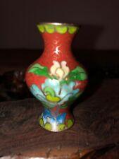 Vintage Mid Century Miniature Asian Cloisonné Vase