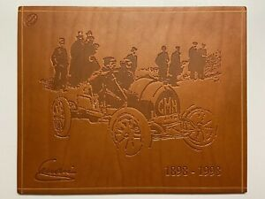 FERRARI | SCHEDONI LEATHER PRINT | ENZO FERRARI 100 YEARS | PLATE | CARD | RARE