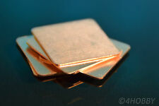 6 Kupferplättchen 20x20x0,5mm Kupferpad Wärmeleiter CPU Wärmeleitplättchen Pad