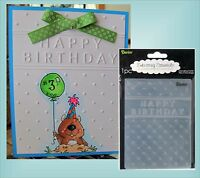 Happy Birthday embossing folder -Darice embossing folders  words phrase 1215-45