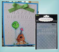 Happy Birthday embossing folder -Darice embossing folders  words phrase 1215-45