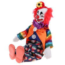 Funny Handmade Clothing Clown Man Doll Halloween Decor Birthday Gifts 23cm