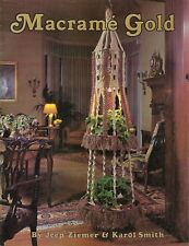 Vintage 1970's Macrame Gold Craft Book #895 Hanging Table Plant Lamp Pattern