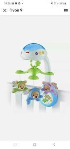 FISHER-PRICE CDN41 Traumbärchen 3-in-1 Baby Mobile Kinderbett Musik Nachtlicht