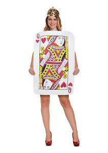 Women Playing Card Costume Ladies Fancy Dress Queen Of Hearts Dress Up Outfit UK