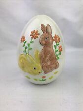 Vintage Large Ceramic Easter Bunny Rabbit Egg 5�H