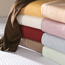 Glorious Bedding Flat Sheet+2 Pillow Case 1000TC AU King Size Striped Colors