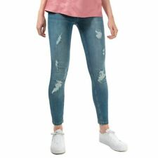 Женские Ted Baker kimmle рваные молния средняя посадка зауженные джинсы в голубом