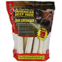 American Beef Hide Rawhide Retriever For Dogs, 20-count NEW