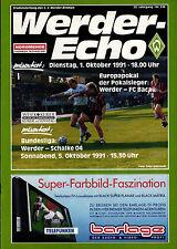 CWC - EC II 91/92 SV Werder Bremen - FC Bacau, 01.10.1991 / FC Schalke 04 (BL)