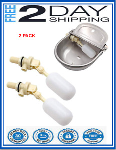 """FLOAT VALVE STABLE WATER FLOAT VALVE 2 PACK Shut Off 1/2"""" Steel Automatic NEW"""