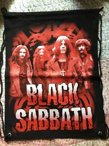 Black Sabbath Bag- Gym/drawstring Style Back Pack