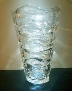"Mikasa Atlantic New Home Decor Flower Bud 9""  Crystal Clear Glass"