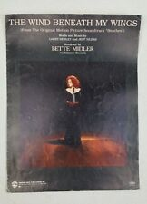 "Bette Midler ""The Wind Beneath My Wings"" Sheet Music 90's POP Vocal"