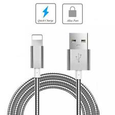 METAL BRAIDED USB CABLE CHARGER SYNC WIRE CORD for iPhone 6 7 8 Plus X XR XS Max
