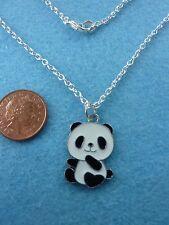 """Cutie Encanto Colgante Collar Panda Esmalte 16"""" Regalo De Cumpleaños Presente # 70"""