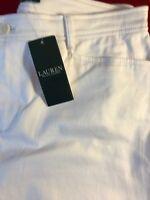 "BNWT LAUREN RALPH LAUREN  Women's White St Leg Jeans UK16 W34"" x L29"" RRP £89"