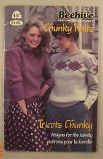 Chunky Knits - Leaflet 447 - Patons - 6 Knit Sweater Patterns