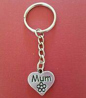 Mum Keyring Charm metal keychain heart love