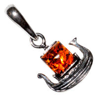 1.25g Authentic Baltic Amber 925 Sterling Silver Pendant Jewelry N-A1607