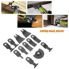 12Pcs Standard Oscillating Multitool Saw Blades Power Bit Tool Cutters Set Kit