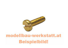 10x Zylinderschraube M1,2 x 2 4 6 8 Messing Schlitz Miniatur-Schraube DIN 84A